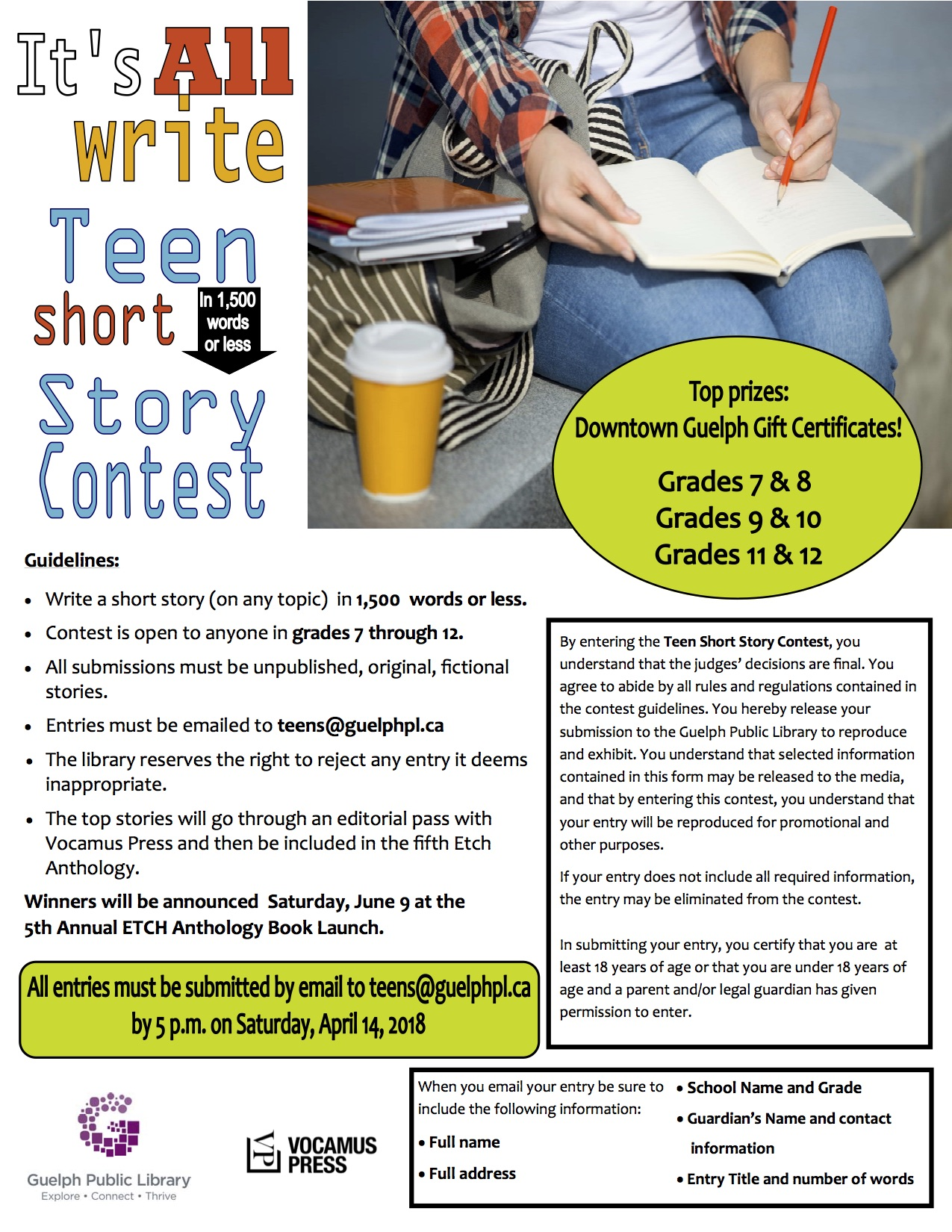 writing contest for teens A current list of writing contests for teens, including essay contests, poetry contests, and more enter to win money and prizes.