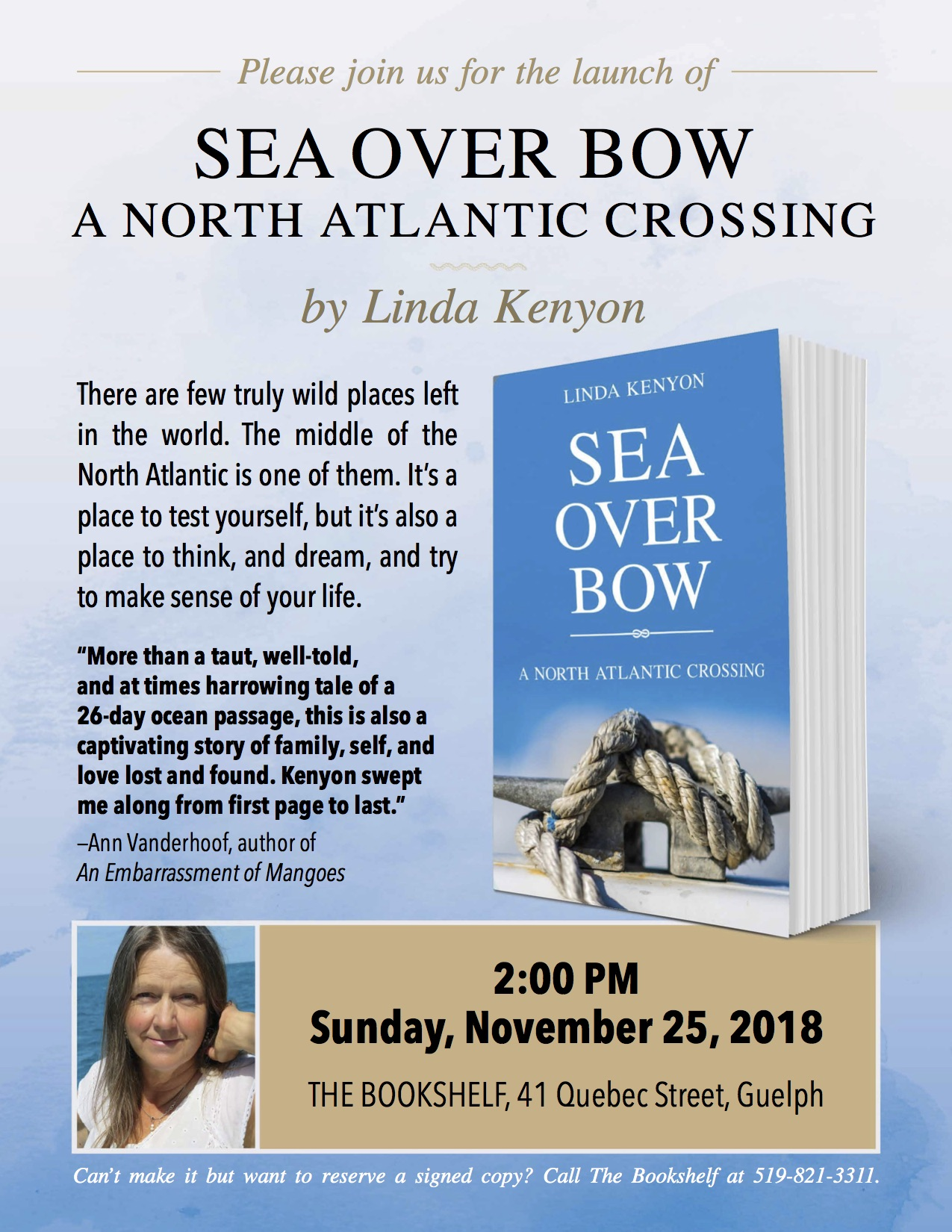 Sea Over Bow Poster
