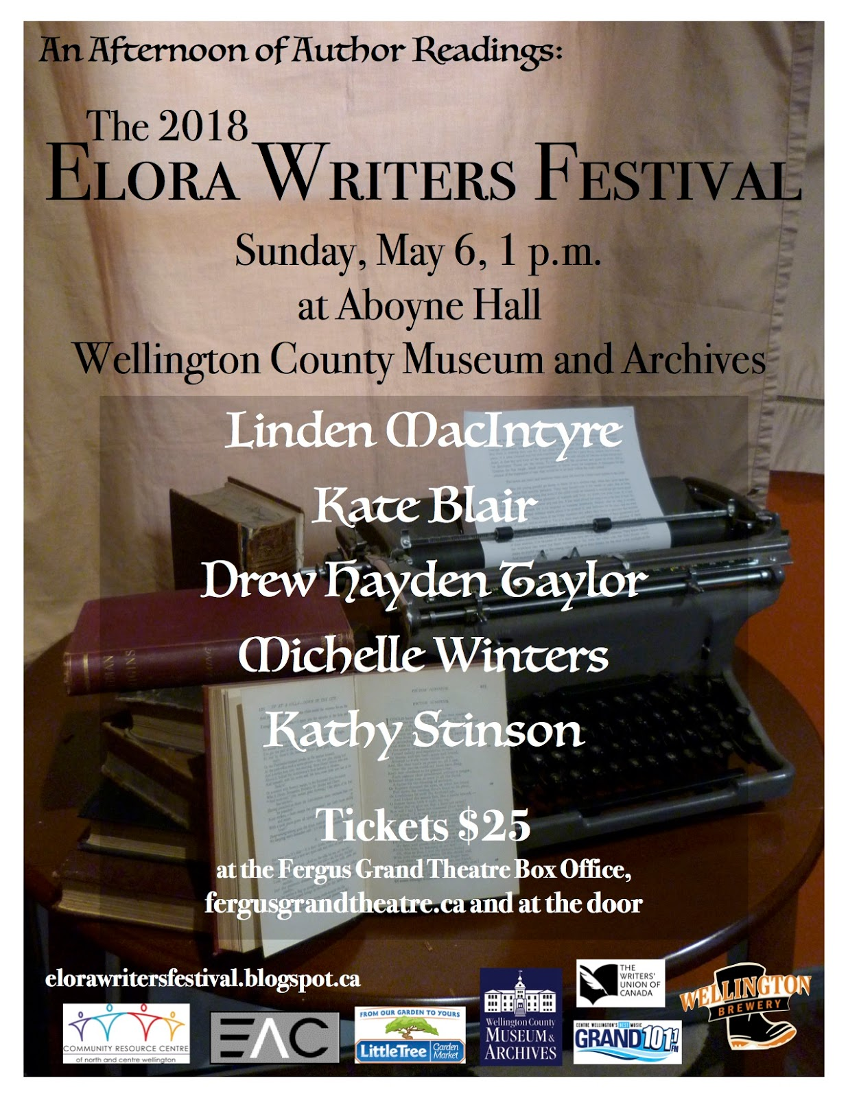 Elora Writers Festival Poster