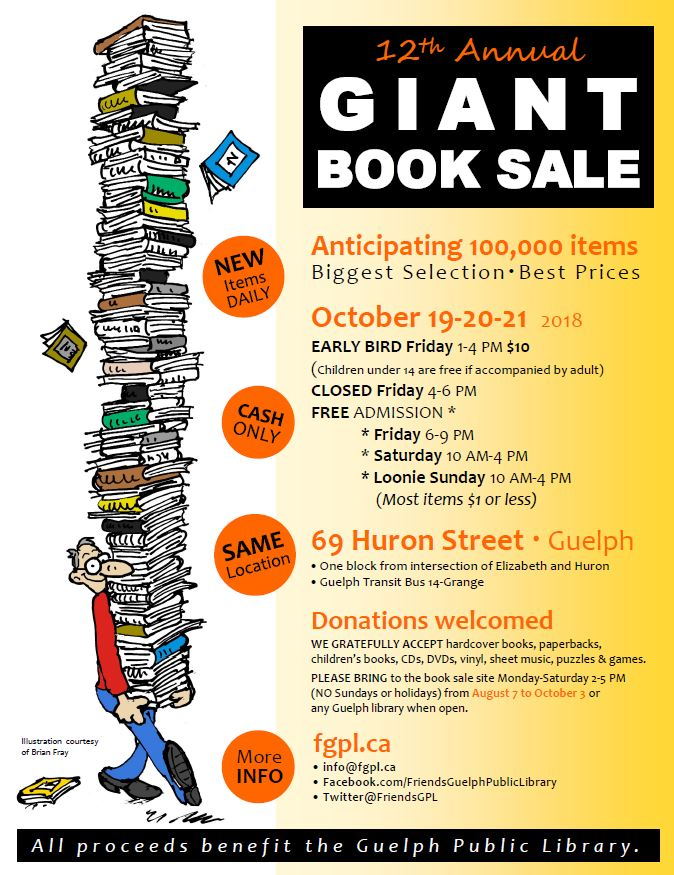Giant Book Sale Poster