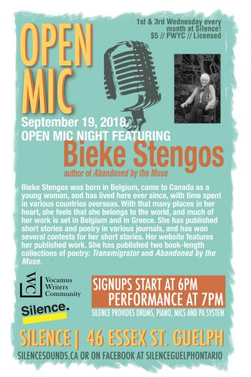 Silence Sounds Open Mic Poster